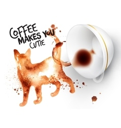 Poster wild coffee cat vector