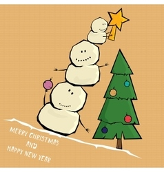 Comic cartoon merry christmas vector
