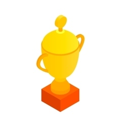 Sports cup isometric 3d icon vector