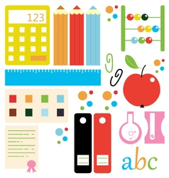 Back to school design elements and artwork vector image