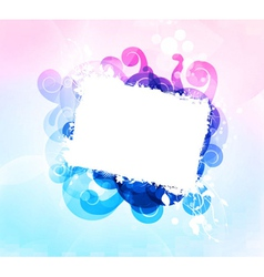 Grunge frame with abstract background vector