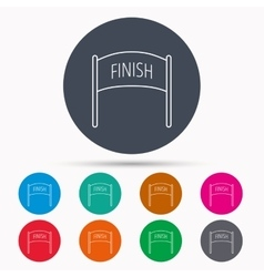 Finish banner icon marathon checkpoint sign vector