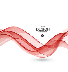Abstract background red wavy vector
