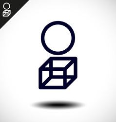 Abstract icons based on the letter I vector image vector image