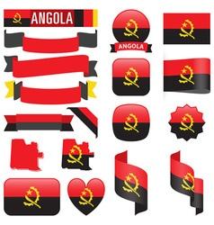 Angola flags vector image vector image