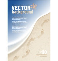 Background with sea and sand vector