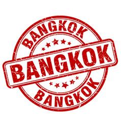 Bangkok red grunge round vintage rubber stamp vector
