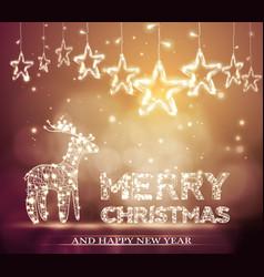 Beautiful christmas bokeh background with lighten vector