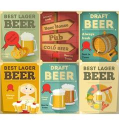 beer posters set vector image vector image