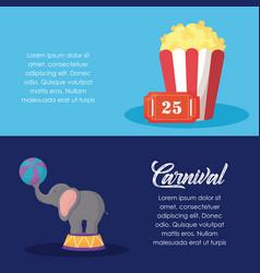 carnival circus design vector image