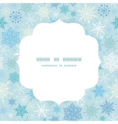 Falling snow circle frame seamless pattern vector
