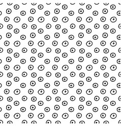 hand drawn polka dot seamless pattern vector image vector image
