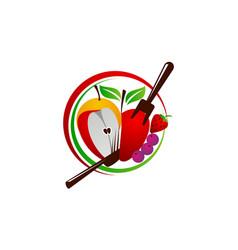Healthy food restaurant vector
