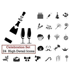 Icon set celebration vector