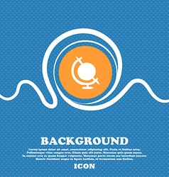 Icon world sign blue and white abstract background vector