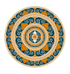 mandala geometric round ornament vector image vector image