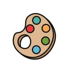 paint palette art vector image vector image