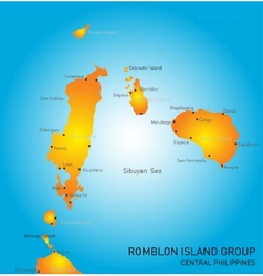 Romblon Island group vector image
