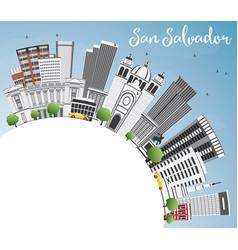 San salvador skyline with gray buildings blue sky vector