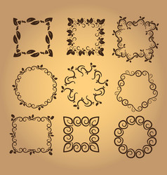 set of vintage design elements6 vector image vector image