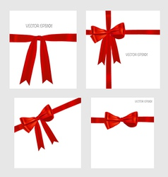 Shiny red ribbons vector image
