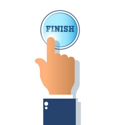 success concepticon finish button isolated on vector image vector image
