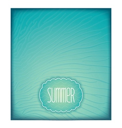 Summer sea background with waves vector image vector image