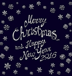 template silver glowing Merry Christmas silver vector image vector image