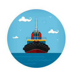 Tugboat icon vector