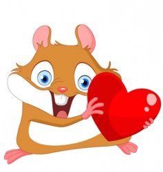 Valentine's hamster vector image