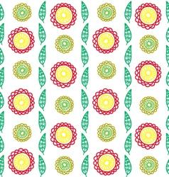 vertical flower pattern vector image vector image