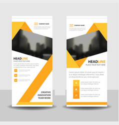 Yellow abstract triangle abstract business roll up vector