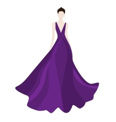 Fashionl brunette woman in stylish evening dress vector
