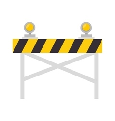 Road warning barrier vector