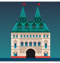 Russian style house vector