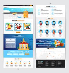 Travel agency web page design vector
