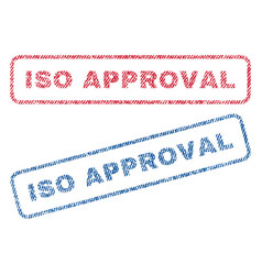 iso approval textile stamps vector image
