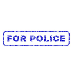 for police rubber stamp vector image