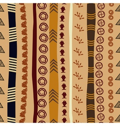Seamless texture with African motifs vector image