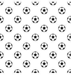 Football or soccer ball pattern vector