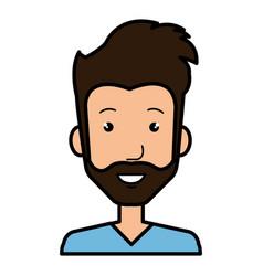 Young man avatar character vector
