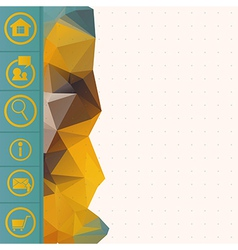 triangle and web button vector image