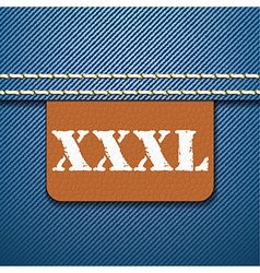Xxxl size clothing label - vector