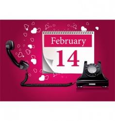 Valentine's phone vector