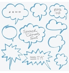 Highlighter speech clouds and bubbles design vector