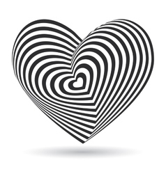 Black heart on white background optical vector