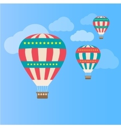 Air colorful balloon vector