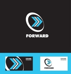 Moving forward arrow logo icon vector
