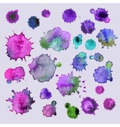 Spray paint watercolor splash background vector image