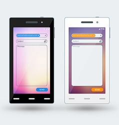 Modern smartphone with email app on the screen vector